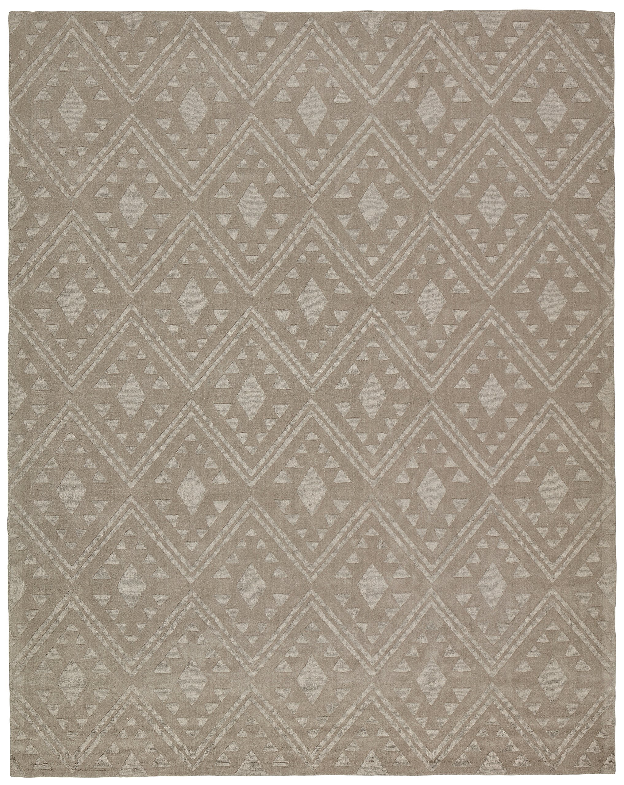 Stone & Beam Shooting Star Modern Diamond Wool Area Rug, 5' x 8', Taupe by Stone & Beam