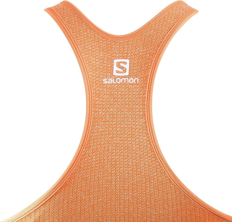 dunkelgrau Medium Impact graphite Salomon Damen Sport-BH Synthetik-Mischgewebe