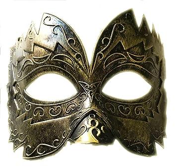 Disfraz de disfraz de máscara de color veneciano grande de bronce ...