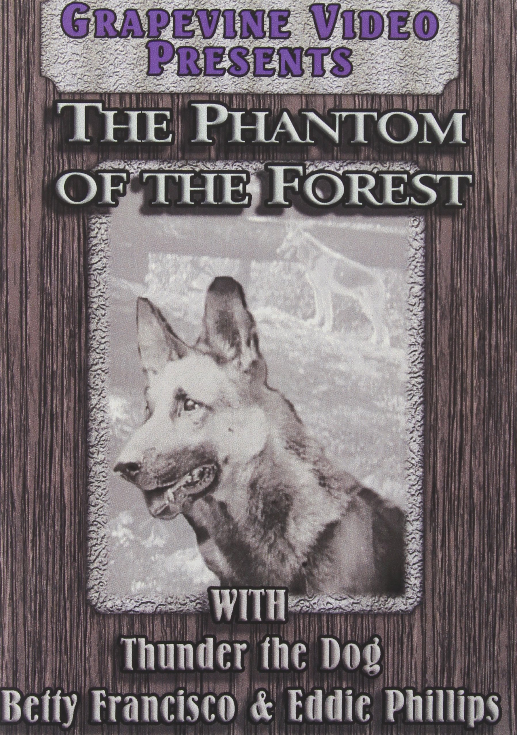 DVD : The Phantom Of The Forest (Black & White, Silent Movie)