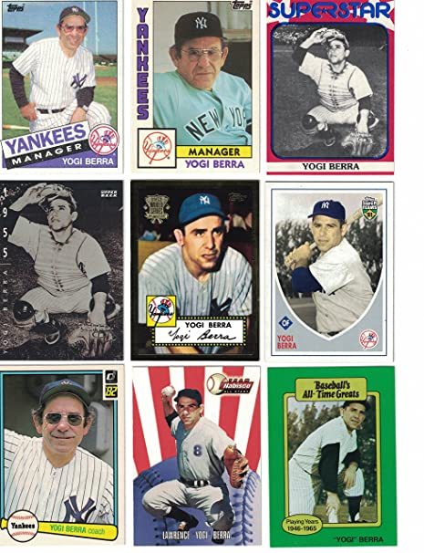 Yogi Berra 50 Different Baseball Cards Featuring Yogi Berra At