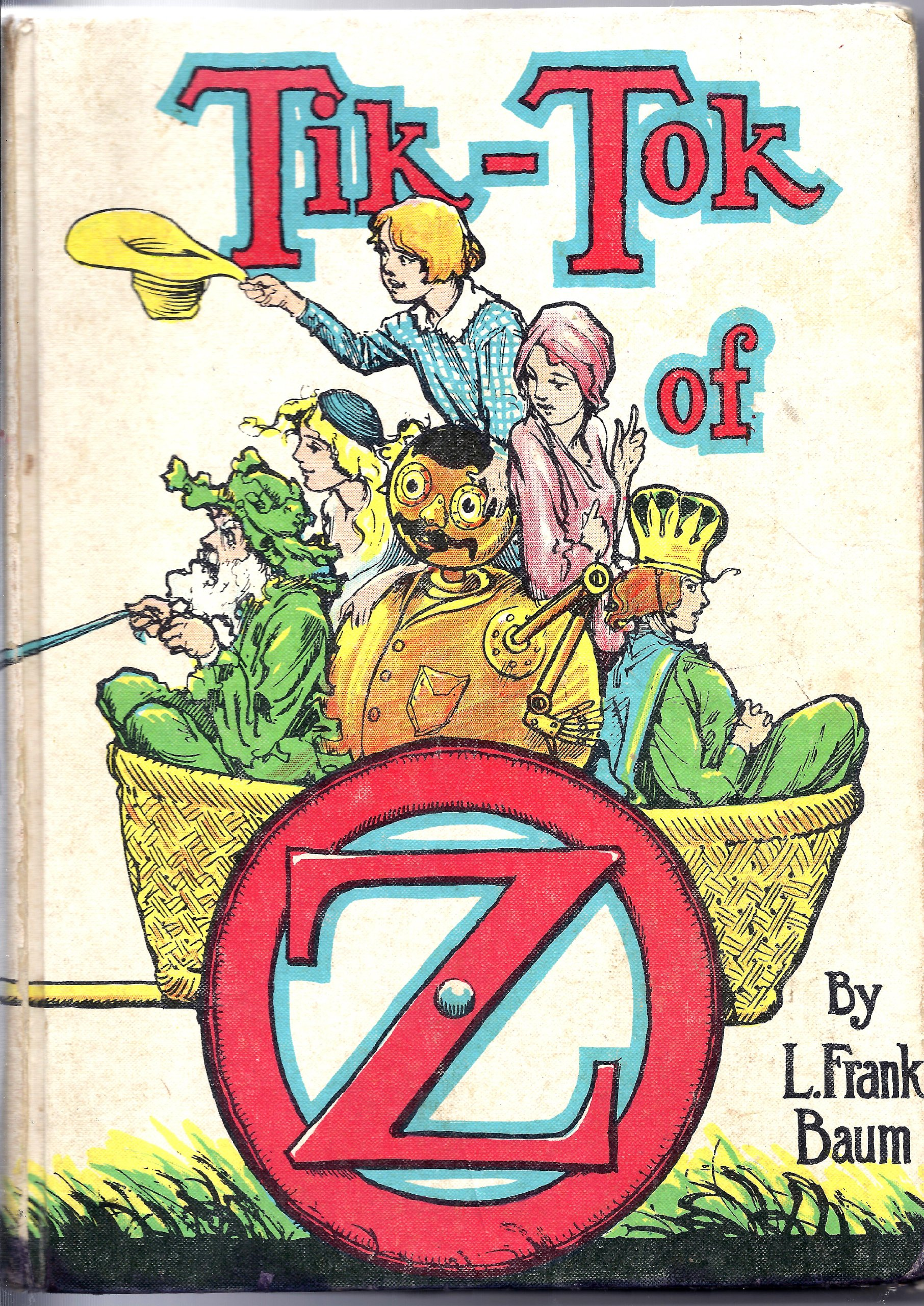 Tik Tok of Oz White Cover: L  Frank Baum, John R  (illustrator)