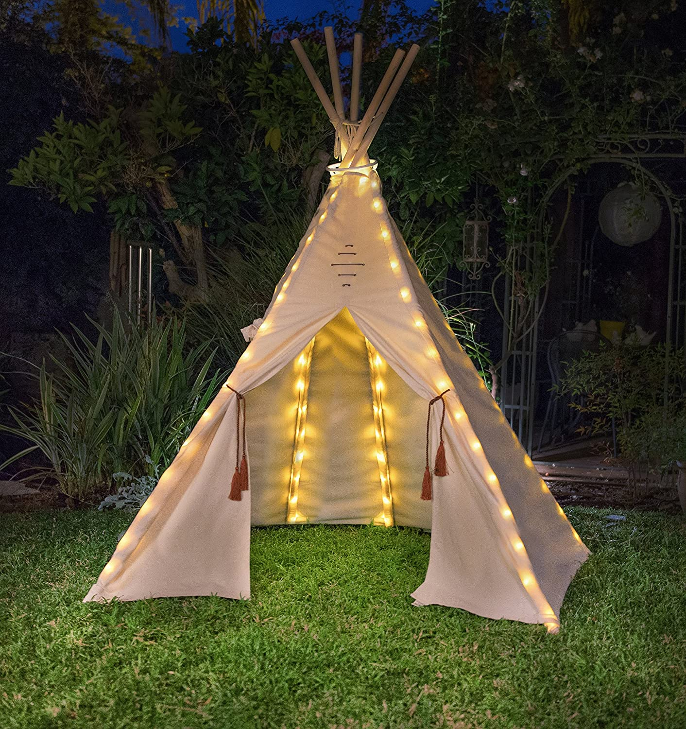 Indoor Outdoor Kids Tent Playhouse Teepee Lights Led Bulbs