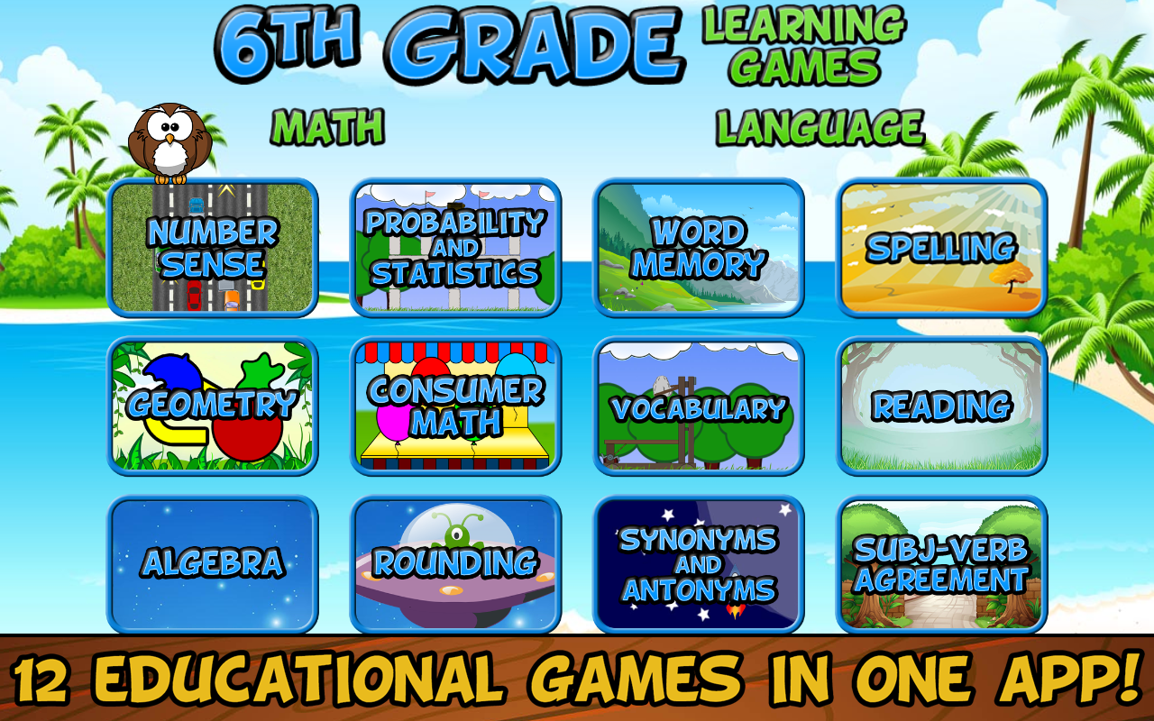 Amazon.com: Sixth Grade Learning Games Free: Appstore for Android