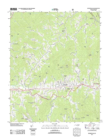 Amazon Com Topographic Map Poster Burnsville Nc Tnm Geopdf 7 5x7