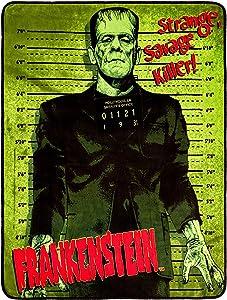 Silver Buffalo UM0127 Universal Frankenstein Raschel Throw, 50 x 60 inches