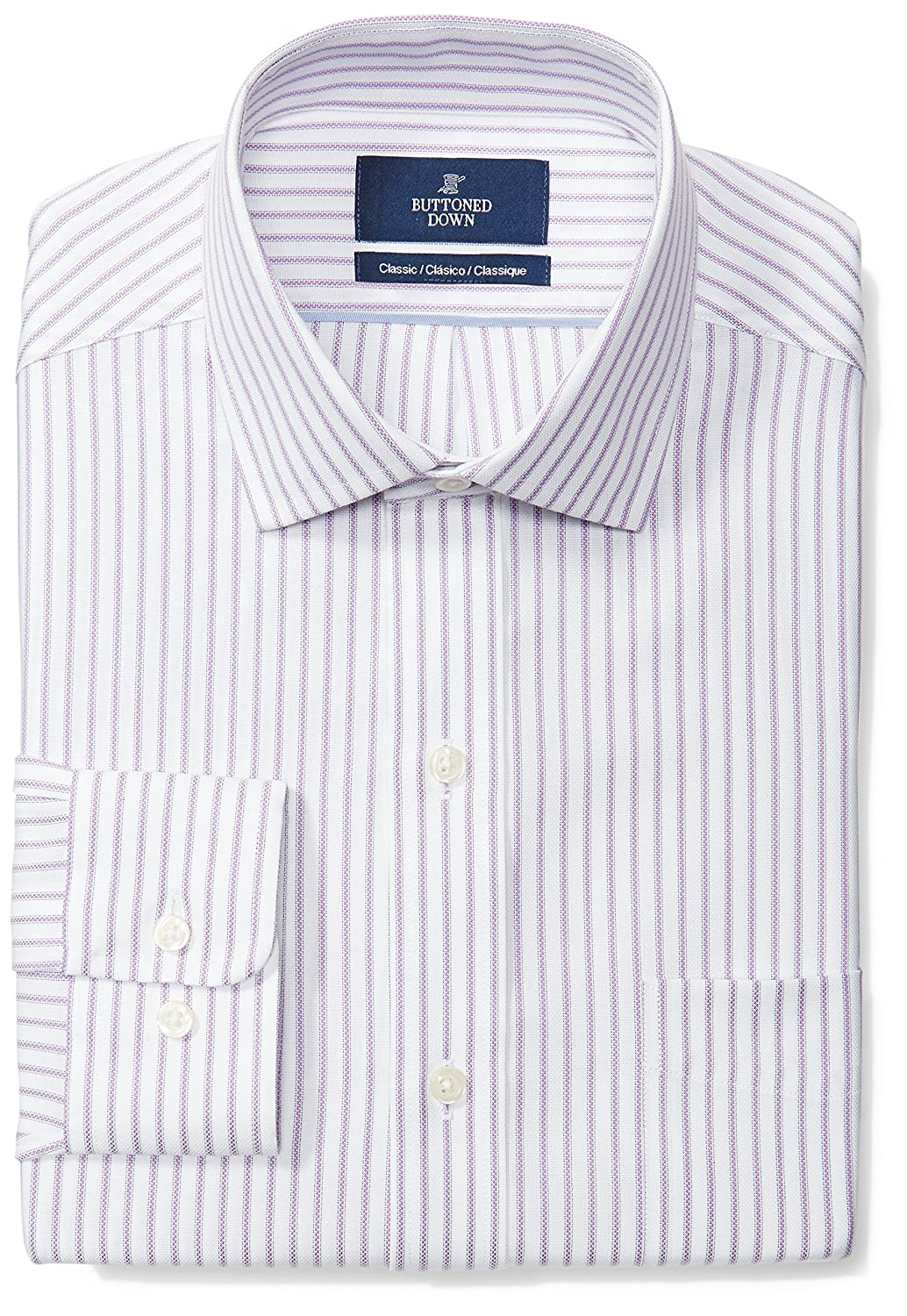 Buttoned Down Men's Classic Fit Non-Iron Dress Shirt (Discontinued Patterns) MBD30001