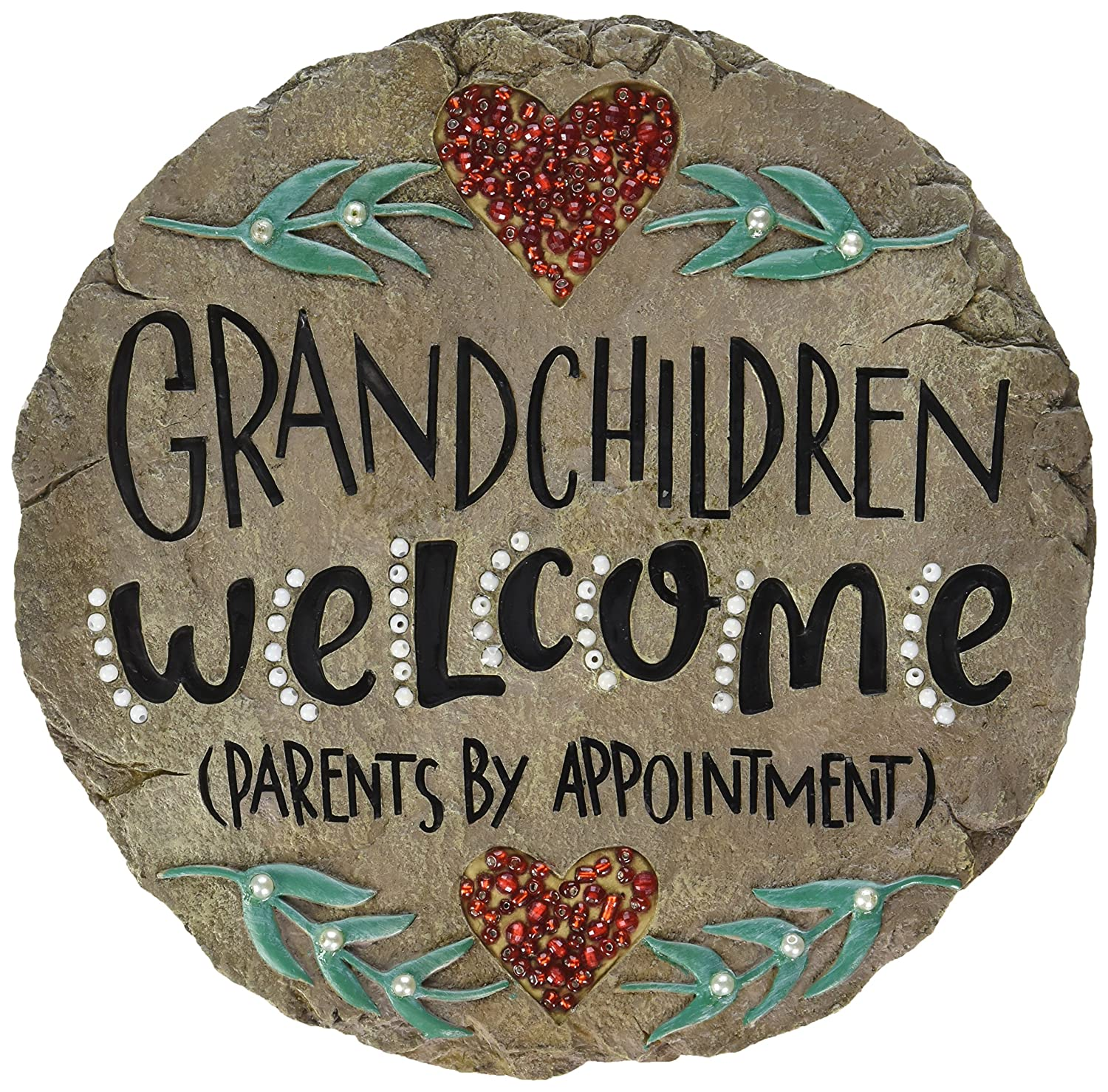 Carson Home Accents Beadworks Grandchildren Welcome Garden Stone (10154)