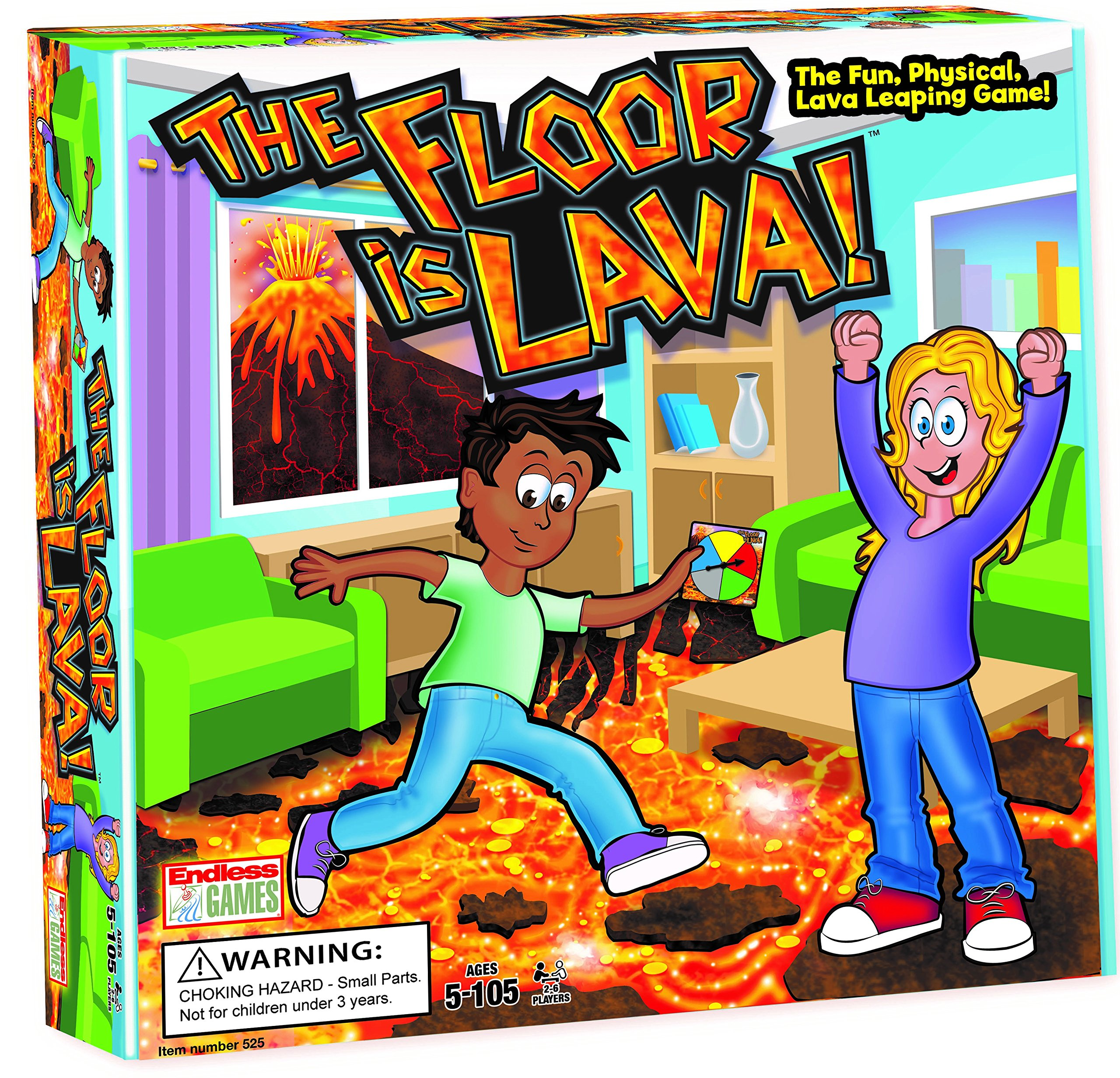 The Floor is Lava! Interactive Board Game for Kids and Adults (Ages 5+) Fun Party, Birthday, and Family Play | Promotes Physical Activity | Indoor and Outdoor Safe