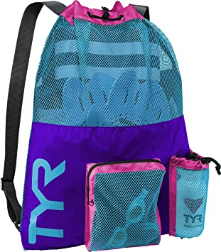 fb4993c0b90 TYR Unisex's Big Mesh Mummy Backpack Bag, Purple/Blue/Pink, One Size