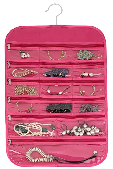 Amazoncom Hanging Jewelry Organizer Earrings Holder and Closet