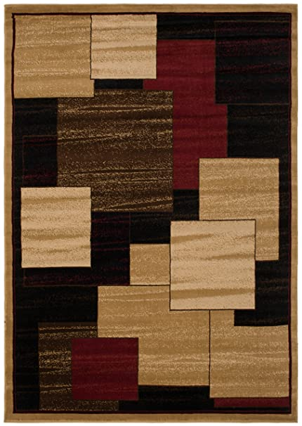 Amazon Com Mayberry Rugs Ct1120 8x10 City City Panes Contemporary