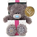 Me To You Tatty Teddy SG01 W4115 17,8 cm di altezza Happy 18th Birthday inside a present si siede Plush Toy