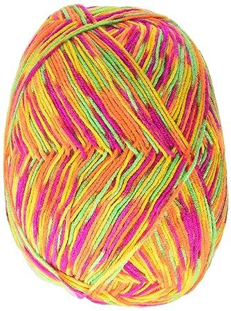 Abrigos de Lana Acrílico Corazón Rojo Comfort Yarn-Orange, Verde Lima y Impresión de Color Rosa Fucsia: Amazon.es: Hogar