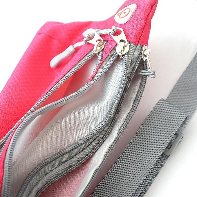veriya Waist Pack Bum Bag,Waterproof Waistpack Lightweight Fanny Pack Bag with Headphone Jack for Running Hiking Cycling Dog Walking 5.5 smartphoe Money Coins Keys Passport Holder