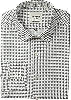 Ben Sherman Men's Skinny Fit Mini Paisley Print Spread Collar Dress Shirt