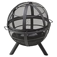 Ball of Fire Feuerstelle Landmann klein silber Fire Pit Grill-Set ✔ rund