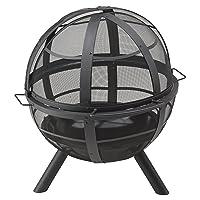 Landmann Ball of Fire Feuerkorb Grill-Set klein silber Fire Basket ✔ rund