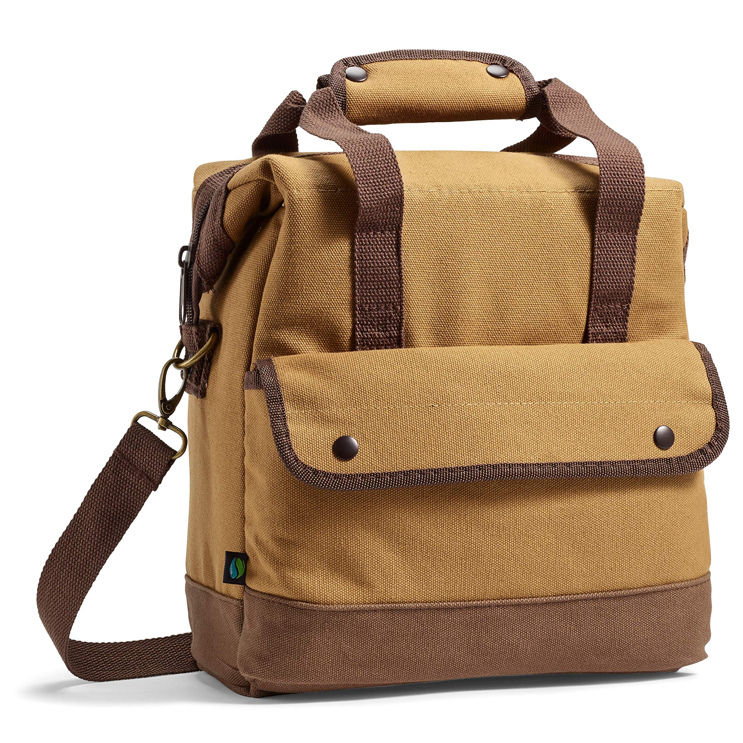 Fit & Fresh Douglas Insulated Lunch Bag for Adults/Office/Work/Fishing/Golfing/Boating, Brown