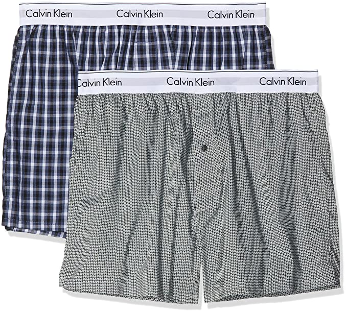 9b67b6c400b7 Calvin Klein Boxer Slim 2pk Boxer Shorts at Amazon Men's Clothing store: