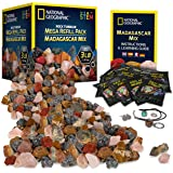 NATIONAL GEOGRAPHIC Rock Tumbler Refill – Mega Madagascar Gemstone Pack, 3 lb of Gemstones Including Rose Quartz, Jasper…