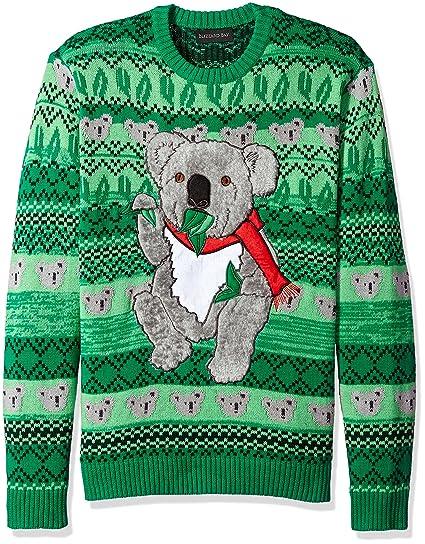 Blizzard Bay Men S Festive Koala Ugly Christmas Sweater At Amazon