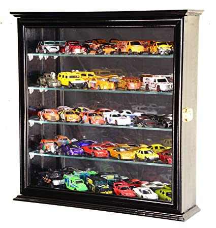 Beautiful 4 Adjustable Shelves Mirrored Hot Wheels/Matchbox/Diecast Cars/1/64 Model
