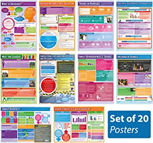 """Sociology Posters - Set of 20 