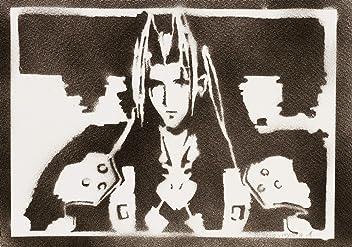 Póster Sephiroth Final Fantasy Grafiti Hecho A Mano - Handmade Street Art - Artwork