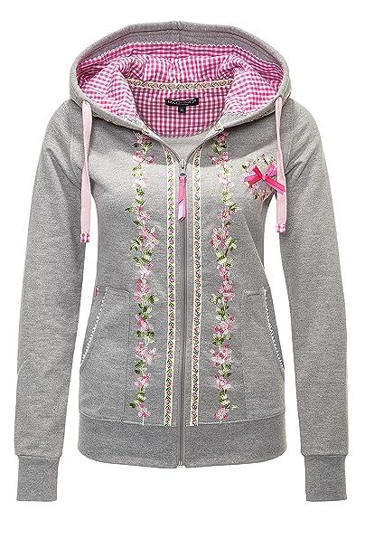 Hachiro Damen Sweatjacke Hoodie Sweatshirt Pullover