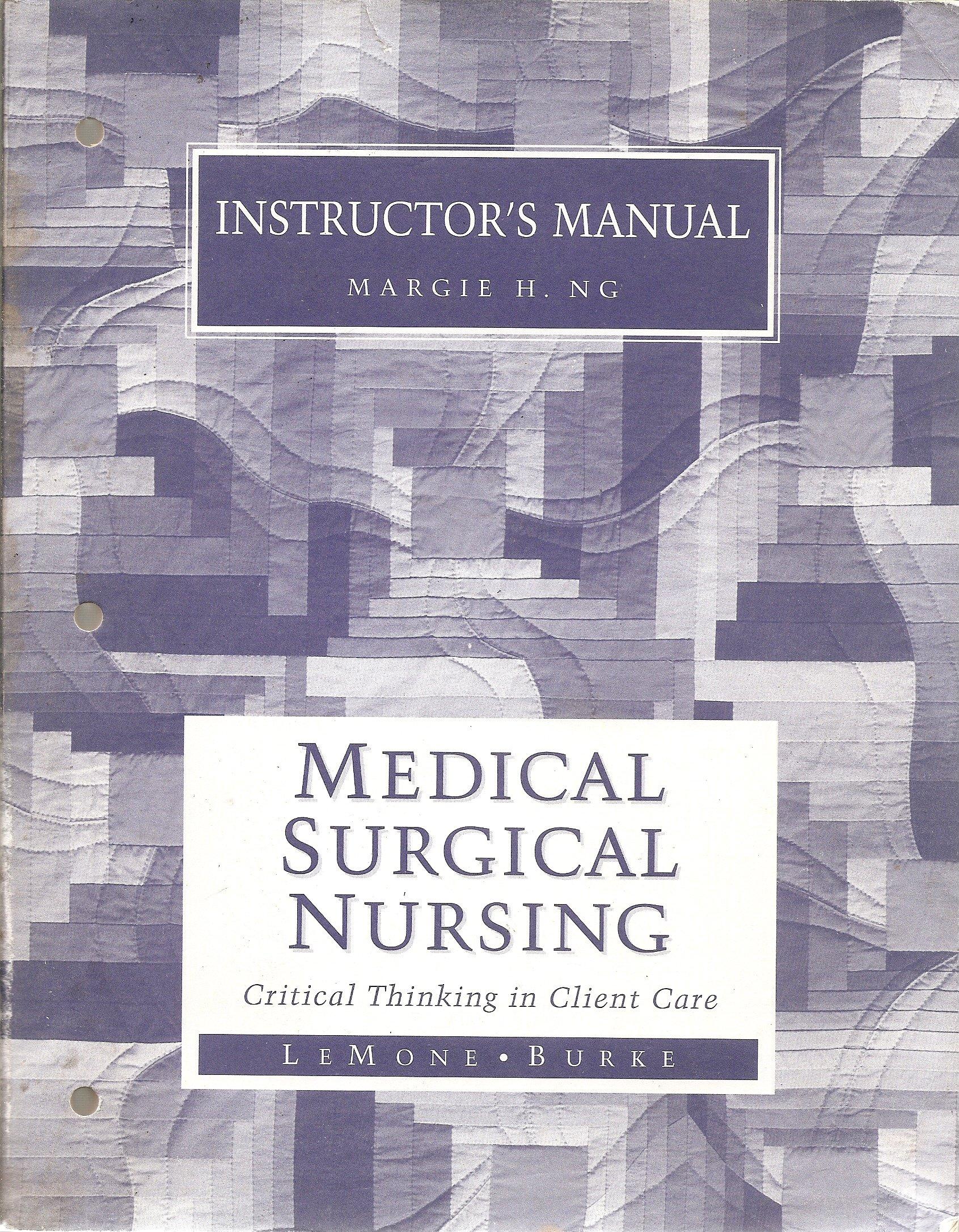 Instructors Manual to Medical Surgical Nursing: LEMONE: 9780805340778:  Amazon.com: Books