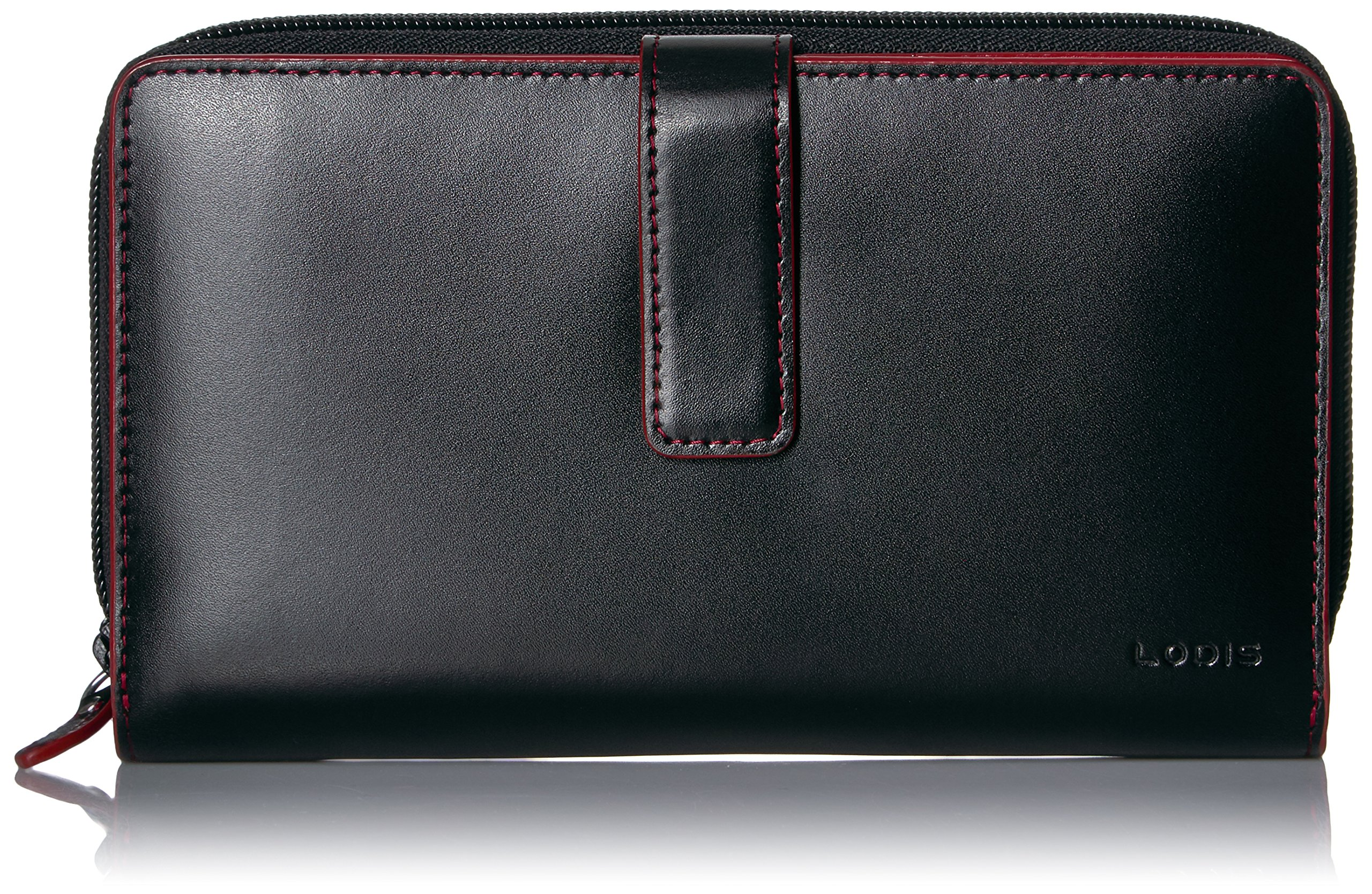 Lodis Women's Audrey Rfid Suv Deluxe Wallet W/ Removable Checkbook Cover