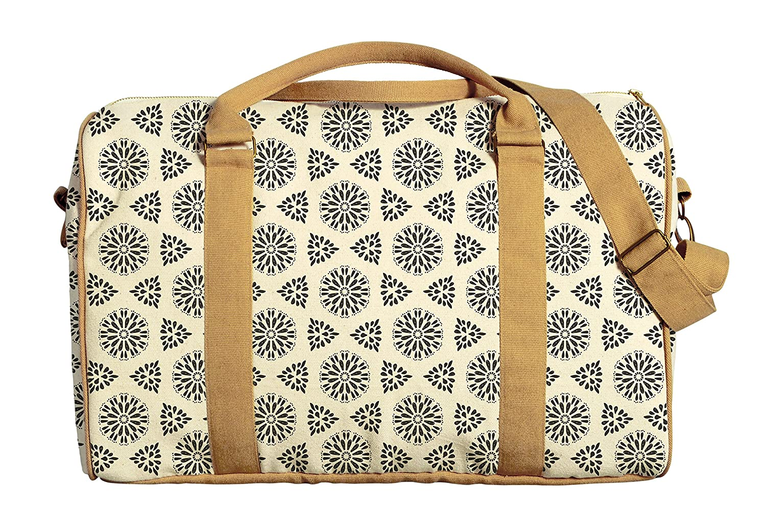 Floral Seamless Pattern Printed Canvas Duffle Luggage Travel Bag WAS/_42