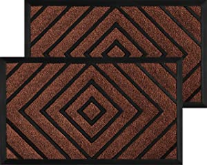 2 Pack Diamond - Door Mats for Home Entrance - Welcome Mats for Front Door - Indoor Door Mat Welcome Mat - Entryway Rug - Doormat - Front Door Mat Outdoor