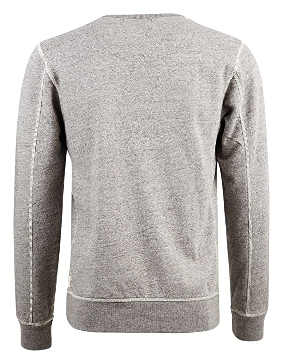 6d6a96af8 Scotch and SODA - Crew-Neck Sweatshirts - Men - Grey Contrasting Embroidery  Sweatshirt for Men: Amazon.co.uk: Clothing
