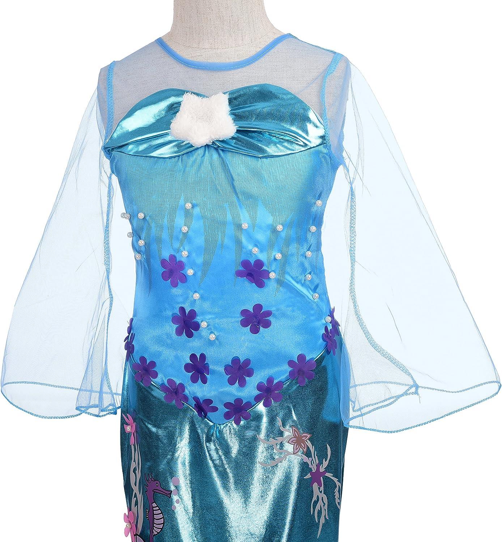 AmzBarley Fille Sir/ène Robe Princesse Costume Enfant D/éguisement F/ête Cosplay Anniversaire