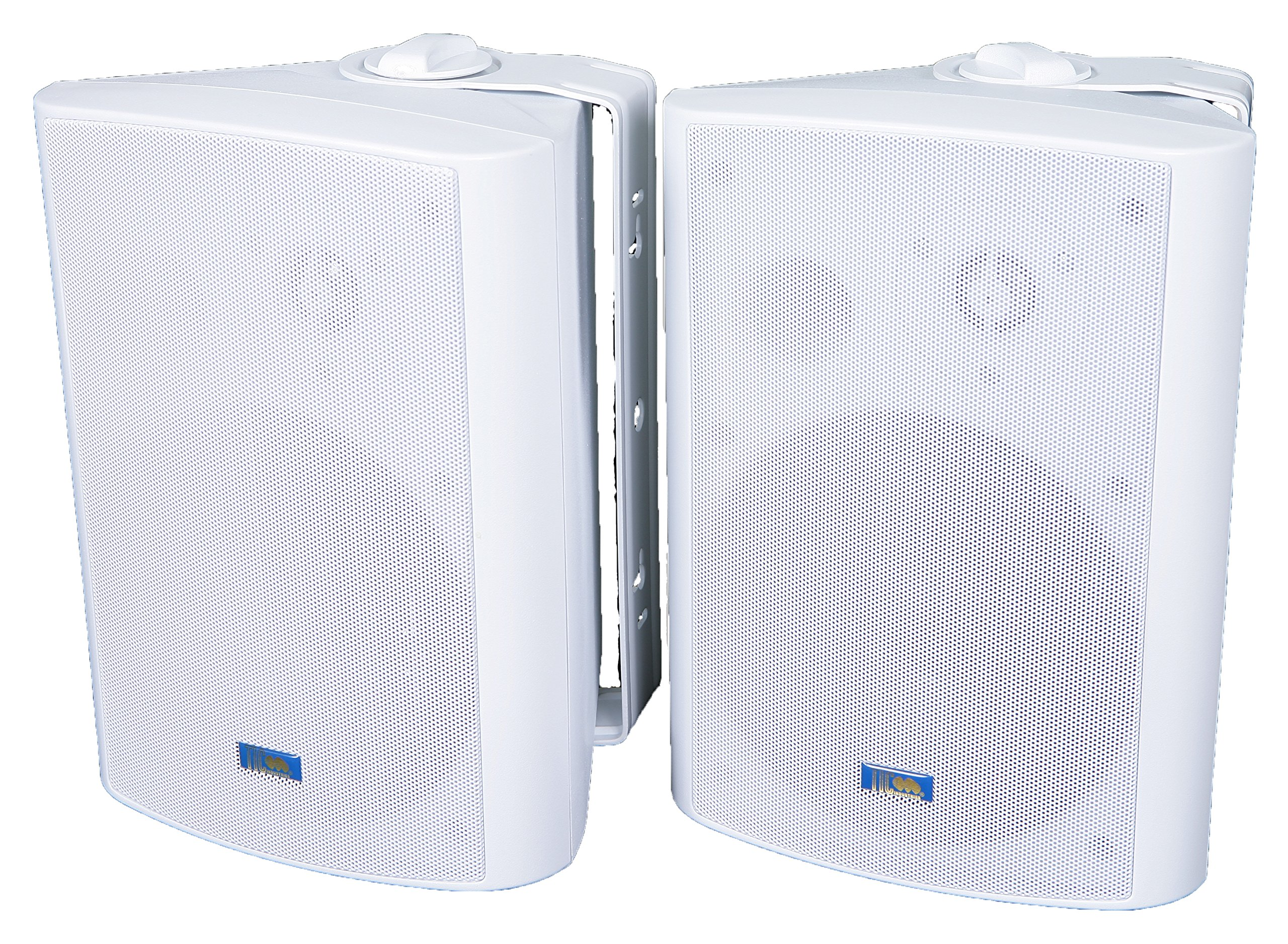 TIC ASP120-W 6.5'' Weather-Resistant Outdoor Patio Speakers with 70v Switch (Pair) - White