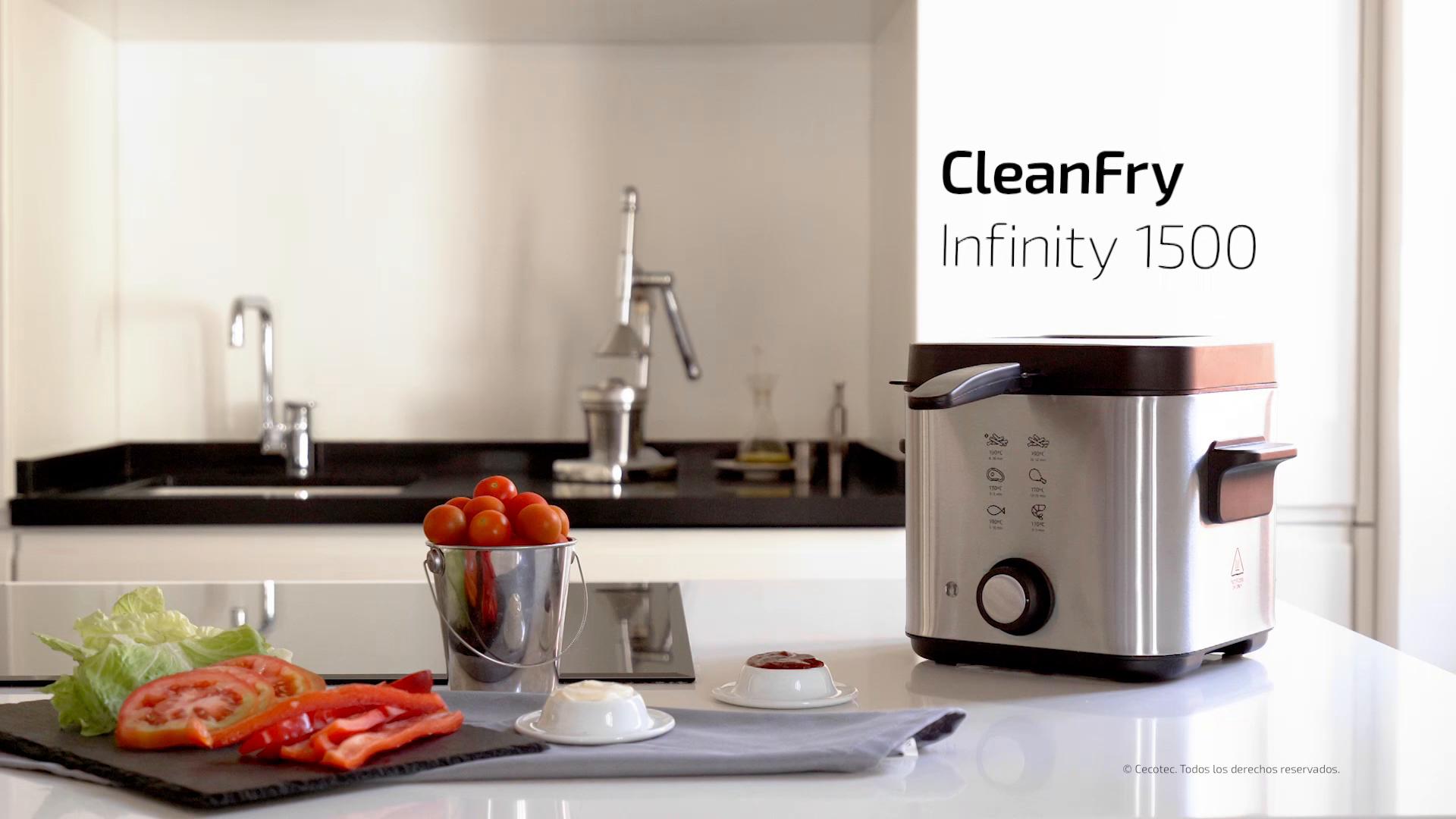 Cecotec Freidora eléctrica CleanFry Infinity 1500. Freidora de ...