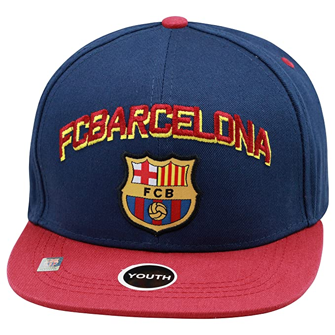 b1472ee3fe0 Amazon.com  Fc Barcelona Snapback Youth Kids Adjustable Cap Hat - Blue -  Maroon -Red New Season  Clothing