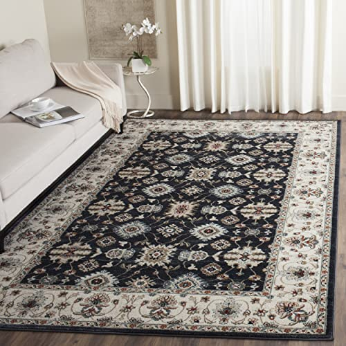 Safavieh Lyndhurst Collection LNH332P Traditional Oriental Navy and Cream Area Rug 8 x 10