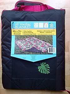 "All Weather Outdoor / Picnic / Beach Blanket / Rug / Mat Jungle Flower Leaves Design 60"" x 73"" (152cm x 183cm)"