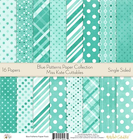 by Miss Kate Cuttables Pattern Paper Pack Scrapbook Premium Specialty Paper Single-Sided 12x12 Collection Includes 16 Sheets Sports Life
