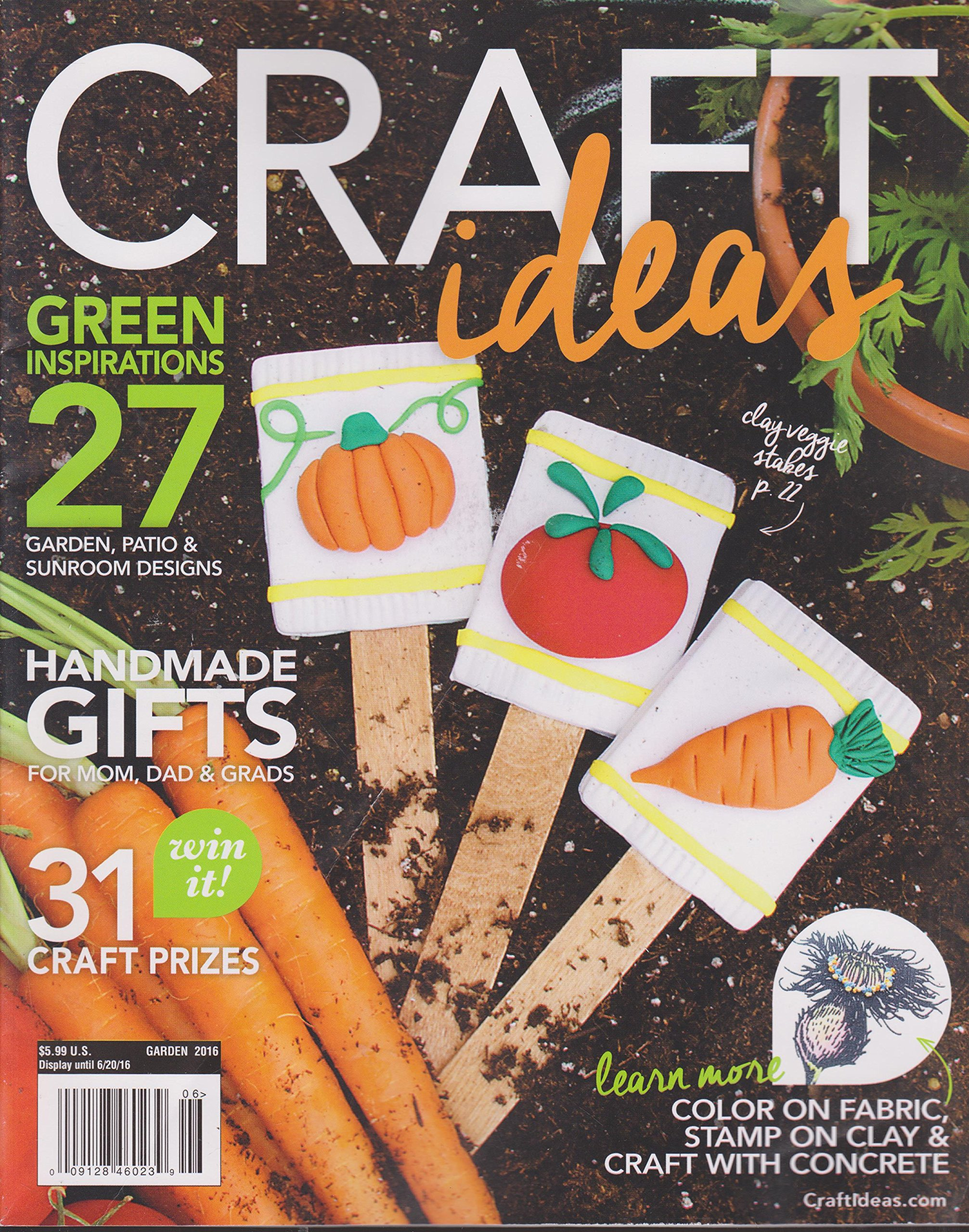 Craft Ideas Magazine Garden 2016 Various Amazon Com Books