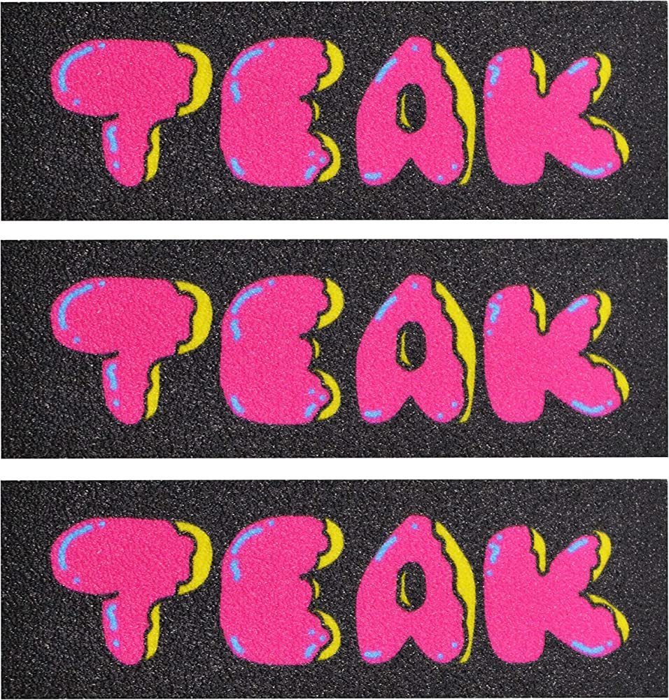 3 Sheets Teak Tuning Premium Graphic Fingerboard Grip Tape Teak Donut Edition