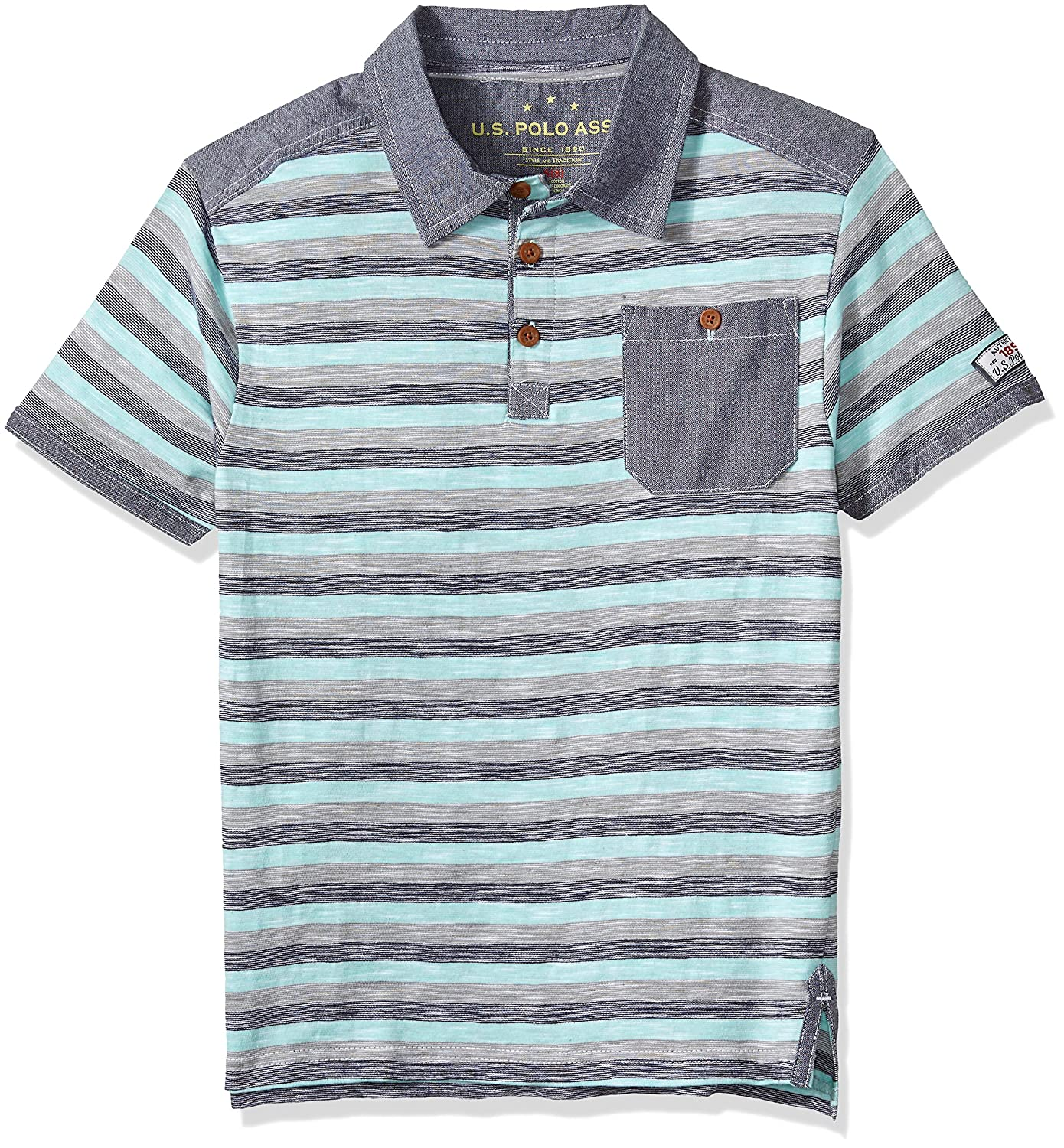 U.S. Polo Assn. Boys Short Sleeve Striped Polo Shirt