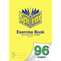SPIRAX Dotted Spirax 117 18mm Dotted Thirds A4 Exercise Book, 96 Pages, (56117)
