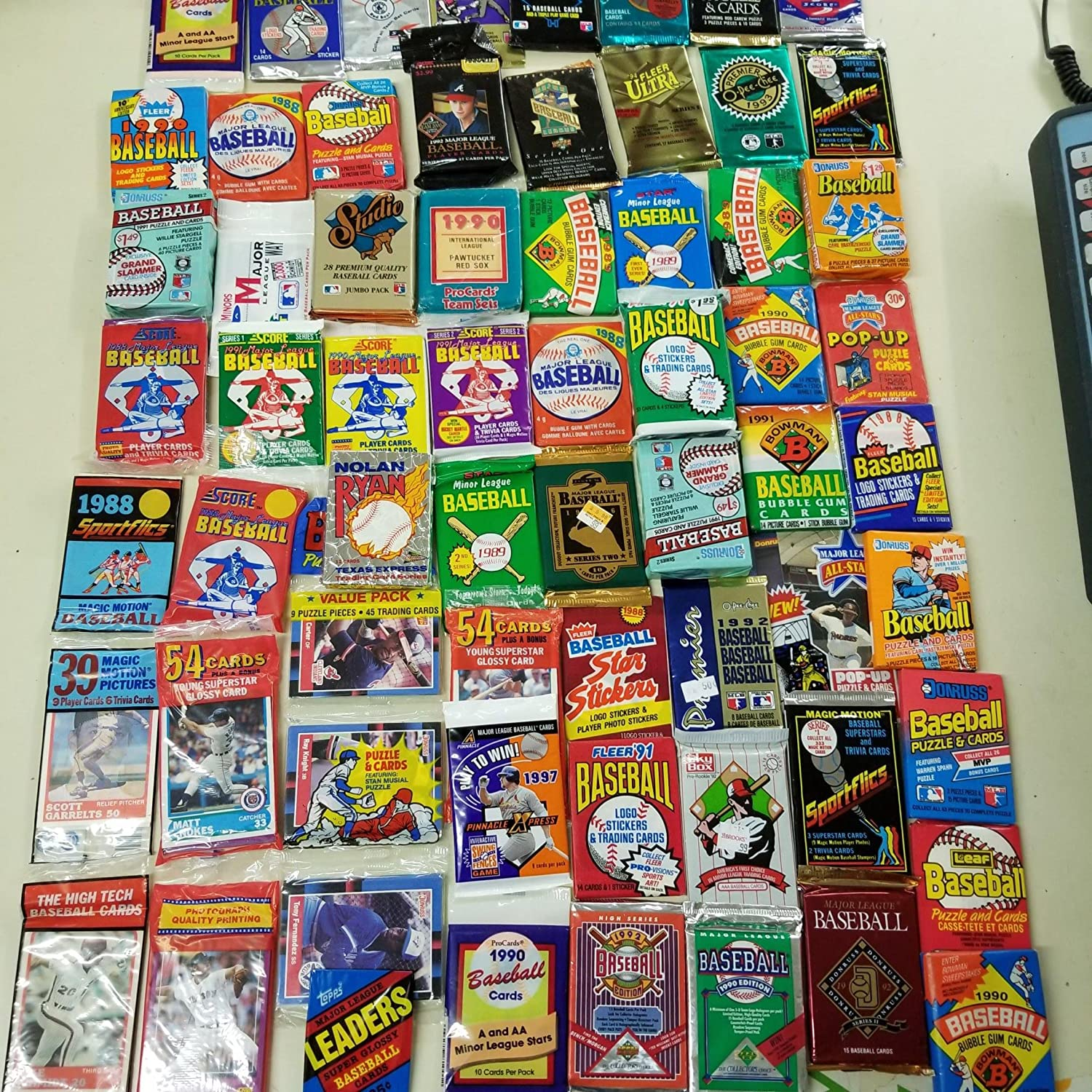 50 Original Unopened Packs Of Vintage Baseball Cards 1986 1994 Look For Rookie Cards Hall Of Famers Special Inserts And More