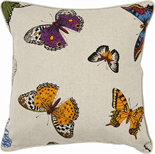 Safavieh Pillow Collection 22-Inch Butterflies Pillow, Multicolored, Set of 2