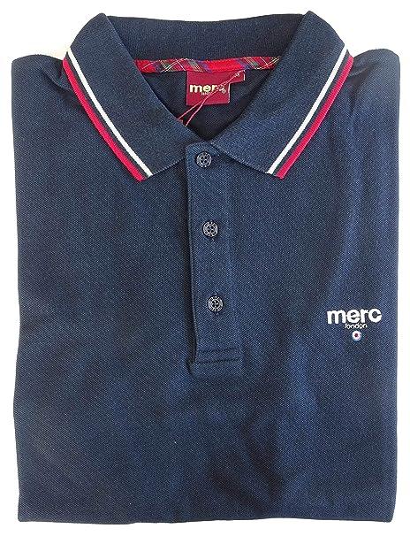 Merc Polo Camiseta Camiseta Logo En Frente y Retro Bianco M ...