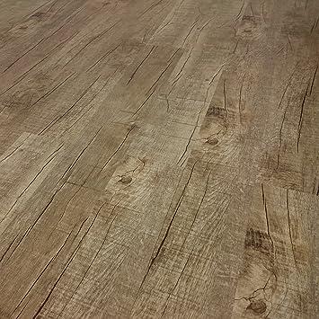 Bitte gew/ünschte Menge eintragen Sie kaufen 1 m/² WASSERFEST Vinylboden, Eiche Nevada TRECOR Klick Vinylboden RIGID//Designboden Massivdiele 5 mm stark mit 0,5 mm Nutzschicht